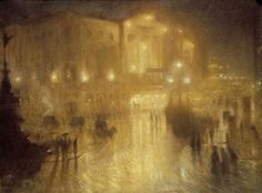 Arthur Hacker - A wet night at Piccadilly Circus