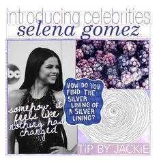 """""""introducing celebrities: selena gomez by jackie"""" by the-tip-book-xoxo ❤ liked on Polyvore featuring art"""