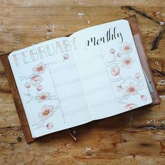 February monthly log, going with the same theme with the cherry blossoms. #bulletjournal #bujo #bulletjournaling #leuchtturm1917 #bulletjournaljunkies #bujobeauty #minimalistbujo #minimalistbulletjournal #planner #lifebyw #bulletjournalss #showmeyourplanner #travelersnote #journal #journaling #stationery #tombow #monthlyspread #monthlylayout #travelersnotebook