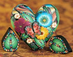 polymer clay cane work beads by iKandiClay