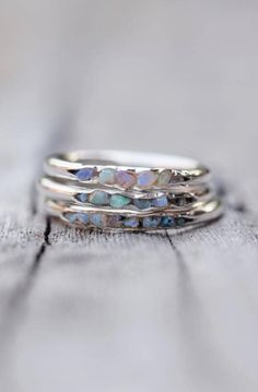 Fossil Opal Ring | GardensOfTheSun on Etsy