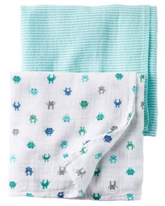 Swaddling And Receiving Blankets Amazing Carter's Baby Boys' 2Pack Little Wild One Swaddle Blankets Design Ideas