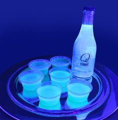 Glow in the dark jello shot I wanna try this!  I didn't realize when I first pinned this but it only works under a black light.