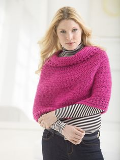 make this chic poncho with new Vanna's Complement and save 20% for a limited time! Get the free crochet pattern and make it now!