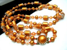 Vintage Japan Mixed Bead Necklace Double by SweetThingsJewels, $39.50