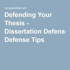 Defending your research paper