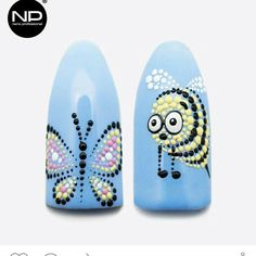 Daisy Nail Art, Crazy Nail Art, Butterfly Nail Art, Flower Nail Art, Swirl Nail Art, Dot Nail Art, Polka Dot Nails, Line Nail Art, Dot Nail Designs