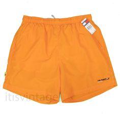 22098326b Tommy Hilfiger Athletics Swim Trunks XL Vintage NWT Orange Surf Beach Shorts