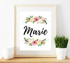 Your place to buy and sell all things handmade H Monogram, Nursery Monogram, Nursery Letters, Nursery Name, Alice Name, Name Wallpaper, Laptop Wallpaper, Thankful And Blessed, Name Art