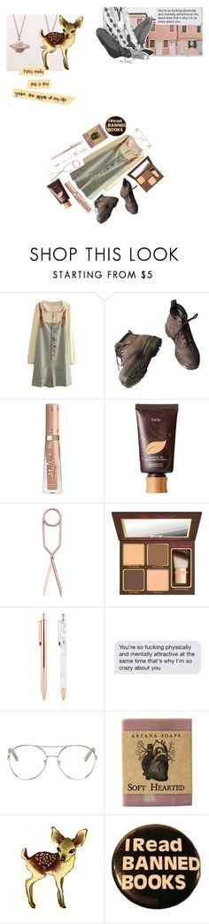 """""""Holy Moly Me Oh My // You're The Apple Of My Eye"""" by fl04t1ng-0ce4n ❤ liked on Polyvore featuring Dr. Martens, tarte, Nomess, Too Faced Cosmetics and Chloé"""