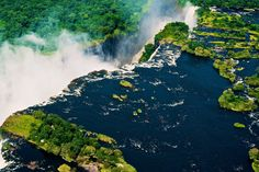 Devil's Pool - Victoria Falls, Zambia  You can find great Zambia hotel deals starting from 42€  Devil's Pool might just be the world's most insane infinity pool. This aptly named natural rock pool sits perched at the top of Victoria Falls, and during dry season, it's safe enough to swim right up to the edge and gaze down at the 300-foot drop. Jumping into this pool definitely requires a leap of faith!