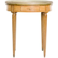 French Louis XVI Style Bouillotte Table with Marble Top | From a unique collection of antique and modern side tables at https://www.1stdibs.com/furniture/tables/side-tables/