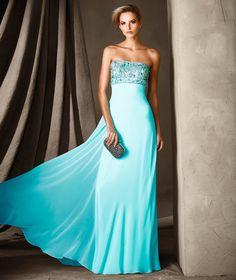 CLOETTE - Vestido de fiesta con falda vaporosa Pronovias