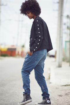 Rockin' streetwear + hair