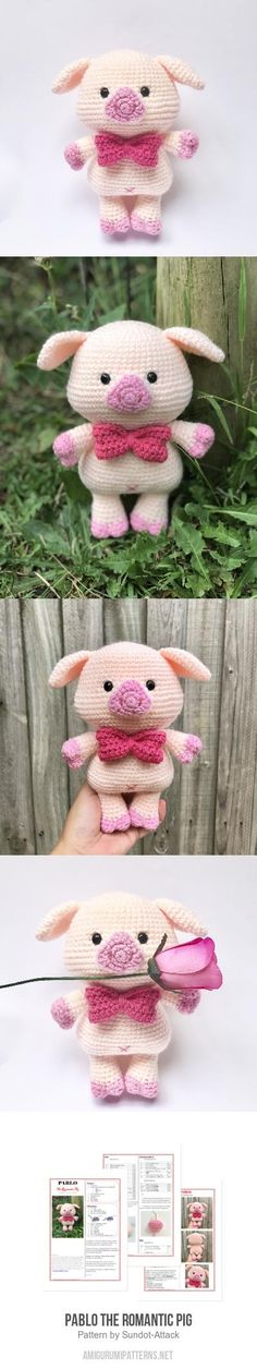 Pablo The Romantic Pig Amigurumi Pattern