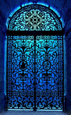 You would have to have a pretty big home for a gated door like this one but isn't it pretty.