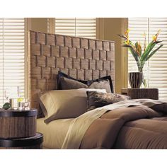 Padmas Plantation Natural Rattan Weave Headboard   RWHB01 T
