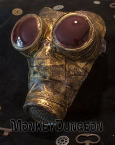 Steampunk industrial horror gas mask Halloween by MonkeyDungeon, $149.99