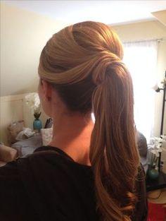 Fancy Ponytail Hairstyles Aka The Barbie Ponytail Dressy Ponytail - dressy ponytail hairstyles ponytail hairstyles bridesmaid Side Ponytail Hairstyles, Ponytail Updo, Trendy Hairstyles, Wedding Hairstyles, Barbie Ponytail, Ponytail Wedding Hair, Ponytail Ideas, Bangs Hairstyle, Bridal Hairstyle