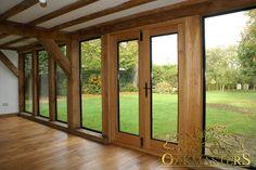 Oak Sun Rooms, Orangeries, Garden Rooms and Conservatories - 765: Oak garden room. Oak framed sun room with stylish glazed walls.