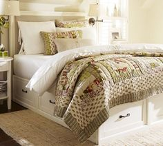"In love with this bed! The storage drawers are 30"" deep. This offers a PDF pattern/directions for sale."