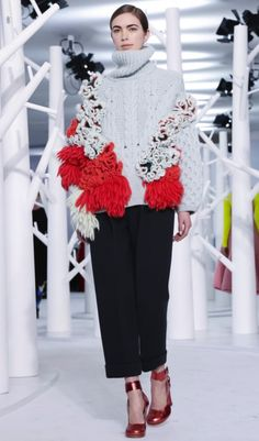 That looks like a bit of #crochet on Delpozo knitwear at New York Fashion Week.