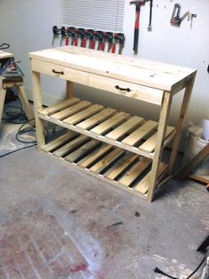 Kitchen Island Made from Pallets | 99 Pallets