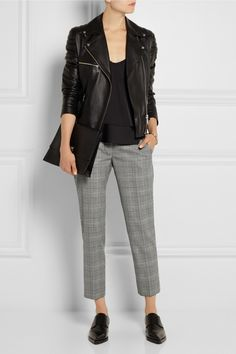 Stella McCartney | Dorot Prince of Wales check stretch-wool tapered pants | NET-A-PORTER.COM