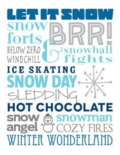 I Love Winter, Winter Fun, Winter Theme, Winter Christmas, Xmas, Winter Ideas, Rose Hill Designs, Christmas Subway Art, Christmas Quotes