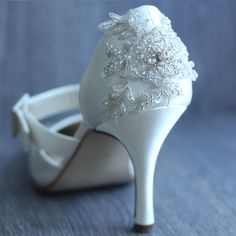 "Donna Crain's embellished shoes  make you feel extra special on your Big day!  For more Alternative Wedding inspiration, check out the No Ordinary Wedding article ""20 Quirky Alternatives to the Traditional Wedding""  http://www.noordinarywedding.com/inspiration/20-quirky-alternatives-traditional-wedding-part-2"