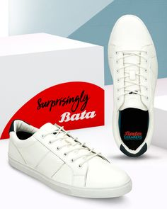 Love designer sneakers? Don't miss these sleek lace-ups that are ultra chic! Bata Shoes, Men's Shoes, White Lace, Lace Up, Shoe Collection, Moccasins, Oxford, Loafers, Louis Vuitton