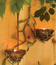 birds nest lamps
