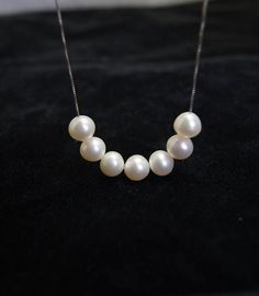 bridesmaid gifts,Bead Necklace,Beaded Jewelry,Pearl Necklace With White Freshwater Pearl - free shipping