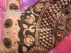 "YouTube unique artistic henna mehndi art work. Search ""Nidhi's MehndiART""…"