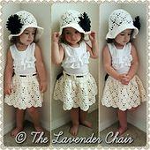 Crochet Skirts Vintage Skirt - Free Crochet Pattern - The Lavender Chair - Baby Girl Crochet, Crochet Baby Clothes, Crochet For Kids, Free Crochet, Knit Crochet, Crochet Hats, Double Crochet, Single Crochet, Crochet Skirt Pattern