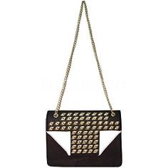 Yoki Megan Studded Sequin Handbag with Flap (White), enter via: https://www.facebook.com/Buydig/app_199909830142802  #buydigstyle