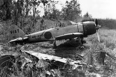 A6M3 Model 32 Zero Manufacture Number 3028 Tail V-187 Captured at Buna Airfield (Old Strip) on December 27, 1942 during the Battle of Buna.