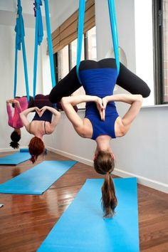 Dasking Premium Aerial Yoga Hammock Kit Light Blue Props Pilates Fitness Running for sale online Pilates Workout, Pilates Reformer, Workouts, Pilates Yoga, Workout Routines, Yoga Fitness, Health Fitness, Health Club, Shape Fitness