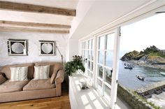 The spectacular view from The Cobbles' living room | Polperro