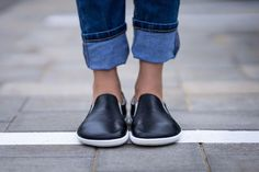 Barefoot Be Lenka Eazy - Black Leather Slip Ons, Black Leather, Barefoot Shoes, Dark Blue Jeans, Wide Feet, Trendy Shoes, Shoe Brands, Athletic Shoes, Casual Outfits