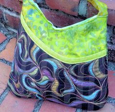Hand-painted Quilted Purse - Tote-able Art! on Etsy, $65.00