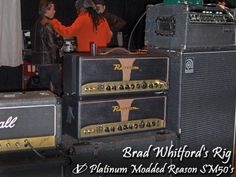 Brad Whitford's live rig on the road with Experience Hendrix Tour.