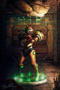 Cosplayer: Pigtails and Power Tools Cosplay Creations. Cosplay: Samus Aran from Metroid Prime. Metroid Samus, Metroid Prime, Samus Aran, Super Smash Bros, Geeky Wallpaper, Viewtiful Joe, Cyberpunk, Super Metroid, Nintendo Characters