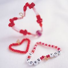 Beading Hearts-This Valentine's Day, bewitch the object of your affection with a bejeweled charm.