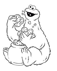 cookie monster coloring pages artistic food pinterest