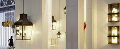 MONTROSE LARGE PENDANT-C with Caret Squirrel Cage Lamp
