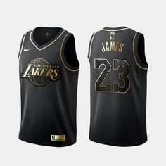Men's Los Angeles Lakers LeBron James Golden Edition Jersey sold by coutl. Soccer Socks, Basketball Uniforms, Basketball Jersey, Basketball Players, Basketball Cards, 3d T Shirts, Sports Shirts, Lebron James Lakers, Lv Men