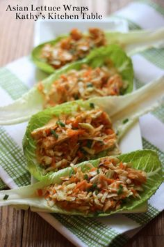 Asian Lettuce Wraps | Kathy's Kitchen Table - Perfectly simple and healthy!