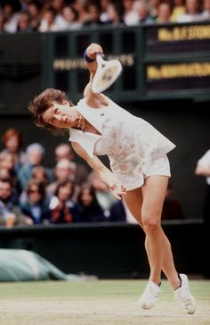 Martina Navratilova at the 1977 Wimbledon Grand Slam. - Photo: Tony Duffy/ALLSPORT