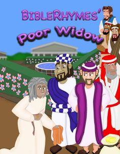This is an update to the cover illustration for BibleRhymes' Poor Widow. This has not yet been included in our free online Bible story. When this picture, with all the characters in it, has been completely updated, the characters will then need to be updated throughout the rest of the book. After that is finished, then our online book will have all of the updates added to it.